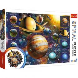 Naprendszer spirál puzzle 1040 db-os Trefl, Naprendszer puzzle, Bolygók puzzle 68x48 cm