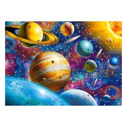 Castorland B-111077 - Utazás a naprendszerben puzzle, Naprendszer puzzle, Bolygók puzzle kirakó 100 db-os  49 x 29 cm