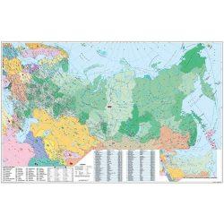 Oroszország és Kelet-Európa irányítószámos térképe Oroszország falitérkép fémléces fóliázott  Stiefel 140x100 cm