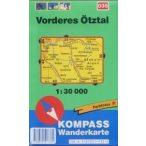 035. Vorderes Ötztal turista térkép Kompass 1:30 000