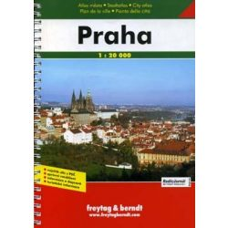 Prága atlasz Freytag & Berndt 1:20 000
