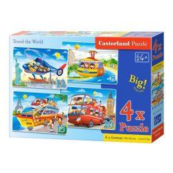 Világkörüli út - 4 az 1-ben (8, 12, 15, 20 db-os) puzzle Castorland