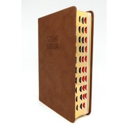 Közepes Biblia Károli Gáspár fordítás - Sötétbarna Regiszteres Biblia 12x18,5 cm