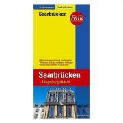 Saarbrücken térkép Falk