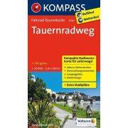Salzach-Radweg kerékpáros térkép Kompass 1:125 000