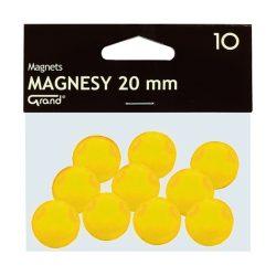 Mágneses jelölő táblamágnes 20 mm -es, kör alakú gombok - sarga