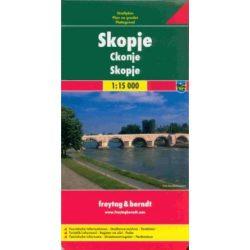 Skopje térkép Szkopje várostérkép Freytag 1:15 000