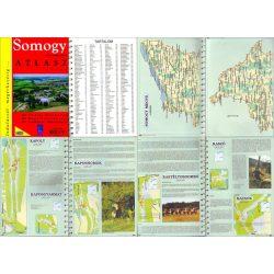 Somogy megye atlasz HiSzi Map