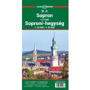 Soproni hegység turista térkép Szarvas 2018 1:25 000, 1:50 000 Soproni-hegység térkép, Sopron várostérkép