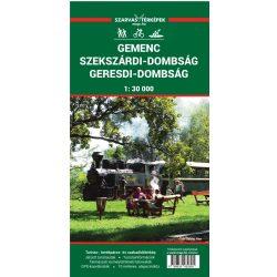 Gemenc turista térkép, Szekszárdi dombság térkép, Geresdi-dombság, Szarvas kiadó 1:30 000  2019