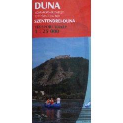 Duna vízitérkép 2. Szentendrei Duna térkép Paulus 1:25 000