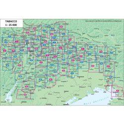 Olaszország Dolomitok turista térképek áttekintő térképe Tabacco kiadó 1: 25 000