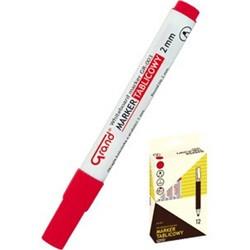 Táblamarker, táblafilc - piros - szárazon letörölhető filctoll