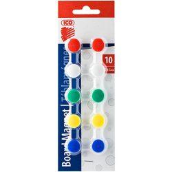 Táblamágnes mágneses jelölő színes 15 mm-es műanyag gombok 10 db