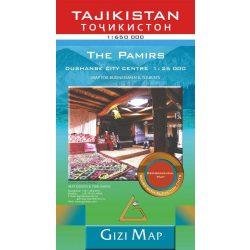 Tádzsikisztán térkép Gizi Map, Tajikistan térkép Geographical 1:650 000  2020 Pamír térkép, Tádzsik Köztársaság térkép, Dusanbe térkép