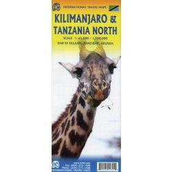 Tanzánia térkép Kilimanjaro térkép  ITM kiadó