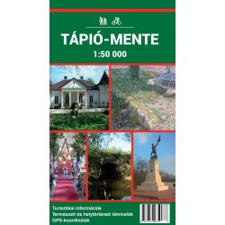 Tápió-mente turistatérkép Szarvas 2017 1:50 000