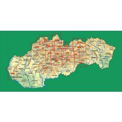 Tatraplan áttekintő térkép 1:50 000  Szlovákia turista térképek