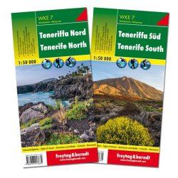 WKE 7 Tenerife turistatérkép Tenerife észak és dél térkép 1:50 000  2018
