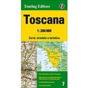 Toszkána térkép Touring Club Italiano 1:200 000