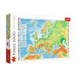 Európa térkép puzzle, Trefl Európa puzzle 1000 db-os Európa domborzata puzzle 68 x 48 cm