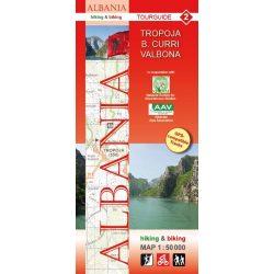 Albánia térkép 2. rész, Albánia kerékpáros térkép   Huber 1:50 000