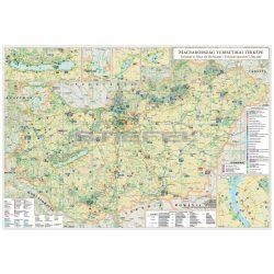 Magyarország turisztikai térképe falitérkép fémléces, fóliás, Magyarország idegenforgalmi térképe 100x70 cm