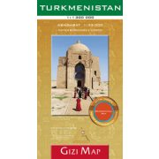 Türkmenisztán térkép Gizi Map, Turkmenistan térkép Geographical 1:1 300 000 Ashgabat térkép