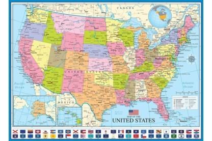Usa Allamai Puzzle Usa Puzzle Map Of The Usa 1000 Db Os Usa
