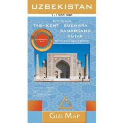 Üzbegisztán térkép Gizi Map, Uzbekistan térkép Geographical 1:1 300 000  2020 Tashkent térkép