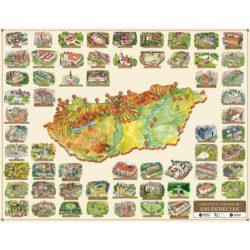 Magyarországi várak térkép fóliás, Várak falikép Civertan Grafikai Stúdió