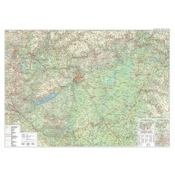 Tűzdelhető Magyarország vászonkép - autós, Magyarország vászon térkép hablapra kasírozva, keretre kifeszítve