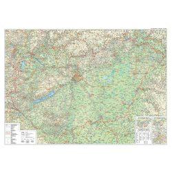 Magyarország közlekedése falitérkép Magyarország közlekedése térkép Szarvas kiadó 1:450 000 120x86