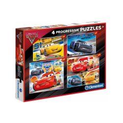 Verdák puzzle gyerekeknek, Verdák 4 az 1-ben puzzle (20,60,100,180 db-os) Clementoni