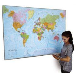 Világ országai falitérkép keretezett Freytag 1:20 000 000  202x130 cm + 6 cm a keret