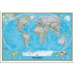 Világ országai fóliás falitérkép National Geographic angol nyelven 117x76