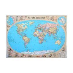 A Föld országai falitérkép  keretezett  Nyír-Karta  125x90 cm, Világ falitérkép