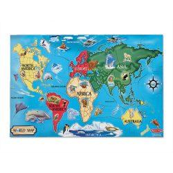Világtérkép puzzle 33 db-os Világtérkép padló puzzle Melissa & Doug Kreatív játék 60x90 cm