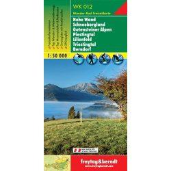 WK 012 Hohe Wand, Schneebergland, Gutensteiner Alpen, Piestingtal, Lilienfeld, Triestingtal, Berndorf turistatérkép 1:50 000