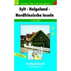 WKD 7 Sylt-Helgoland-Nordfriesische Inseln turista térkép Freytag 1:50 000