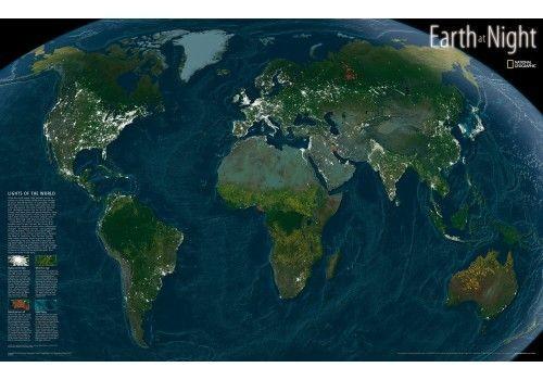 Muholdas Vilagterkep A Fold Terkepe Ejszaka National Geographic