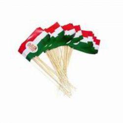 Papír zászló nyéllel, magyar zászló, címeres